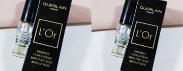 guerlain l or radiance primer review concentrate with pure gold