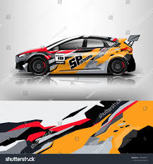 Design Racing Racing Car Wrap Wrap Design Racing Stock Vector Royalty