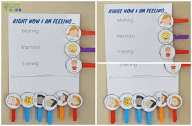 Emotion Chart For Kids Diy Emotions Clothespins Activity Chart Includes A Free