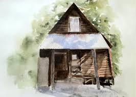 Gold Miners Shed Painting by Polly Barrett