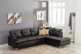 happy homes vintage modern black faux leather left hand chase sectional w pillows reviews