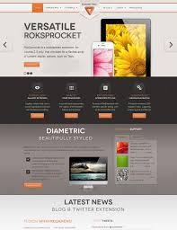 Business Portfolio Template Diametric Joomla Template For Business Portfolio Gallery