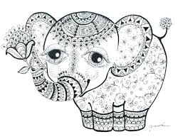 Elephant Coloring Pages For Adults Ba Elephant Adult Coloring Pages