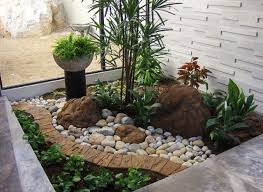 what follows next are 15 vibrant indoor garden you can get inspired from |  Asian gardens | Pinterest | Small front yards, Front yards and Houzz