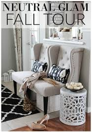 neutral glam fall tour and fall decor