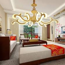 led auious luminaire big chandelier for living room