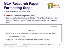 Example Of Mla Research Paper Formatting A Research Paper Ppt Download