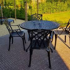 alice 4 seater antique bronze garden or