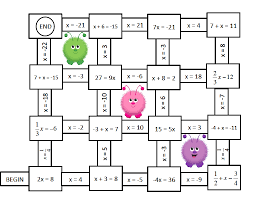 algebra solving one and two step equations mazes free if i ever teach higher grades
