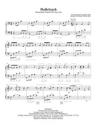 hallelujah piano sheet music hallelujah harp column music