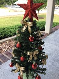 Cemetery Christmas Tree With Lights Cemetery Christmas Tree Grave Decoration Artificial Tree On