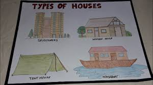 How To Make A Chart Of Different Types Of Houses For School Project Activity