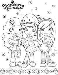 Coloring Pages Strawberry Shortcake And Friends