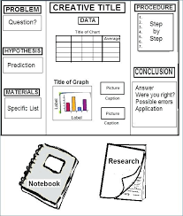 Science Fair Board Template Science Project Display Board Template