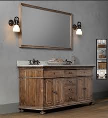 getting a restoration hardware weathered finish the weekend bathroom vanity