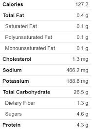 nutrition facts for 1 serving makes 8 servings with no added cream er or cheese