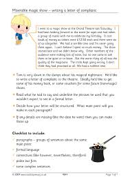 how to write a letter of complaint letter writing all literacy  letter writing all literacy resources english 0 preview