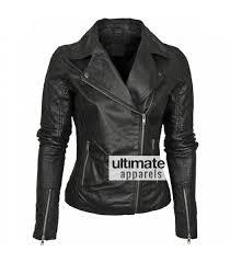 barney designer women s leather asymmetric biker jacket 189 00