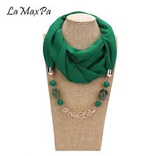 lamaxpa new design pendant scarf for women accessories hijab femme elegant pendants scarf ep resin alloy