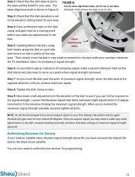 Shaw Direct Satellite Locator Chart Satellite Self Installation Manual Pdf Free Download