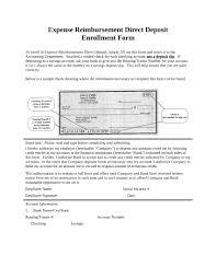 14 Direct Deposit Enrollment Forms Free Word Pdf Format