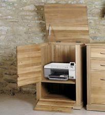 conran solid oak hidden home office. Mobel Oak Hidden Home Office. Solid Office Furniture Printer Storage Cabinet Cupboard Conran