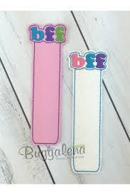 Design Bookmarks Bff Bookmark Embroidery Design