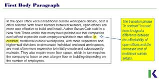 analyzing compare and contrast essays workspace design first