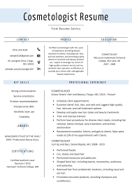 Cosmetologist Resume Sample Writing Guide Resume Genius