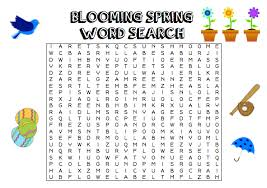 Activities Word Blooming Spring Word Search After School Program Activity