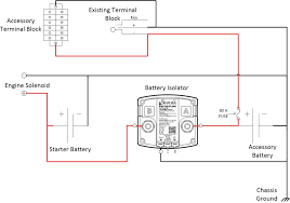 dual battery solenoid isolator wiring diagram wiring diagram and 12 volt and 24 80 dc battery isolator split charge