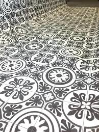 Patterned Vinyl Tiles Impressive Patterned Vinyl Flooring Grey Floor Tiles Zachhunter