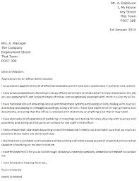 cover letter for office administrator role covering letter for admin job