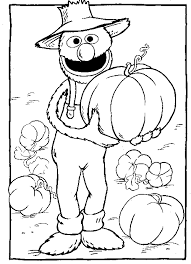 Sesame Street Halloween Coloring Pages Disney
