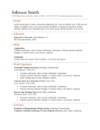 Resume Templates Word Free Simple 28 Free Resume Templates
