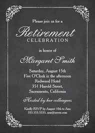 Retirement Celebration Invitation Template Elegant Chalkboard Retirement Party Invitation Template