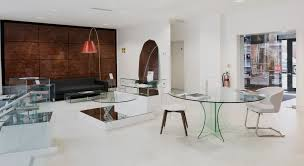 glassdomain glass dining table showroom