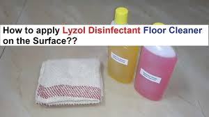 how to apply lyzol disinfectant floor cleaner on the surface