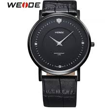 2016 weide wg93001 genuine leather strap quartz watch men new 2016 weide wg93001 genuine leather strap quartz watch men new ultra thin solid stainless steel case business dress black watches for men