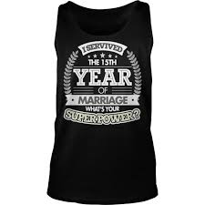 anniversary gift 15th 15 tank top