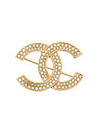 chanel pin. chanel vintage cc pin brooch a