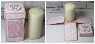 Craft Projects Using The T Light Candles Exploding Candle Box Using Perfectly Wrapped Stamp Set