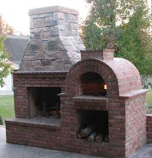 the riley family wood fired diy brick oven and fireplace combo in cky