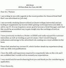 Cover Letter Samples For Hotel Job Noplaceleftworld Com