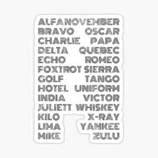 Though often called phonetic alphabets, spelling alphabets have no connection to phonetic transcription systems like the international phonetic alphabet. Nato Alphabet Stickers Redbubble