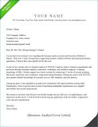 Business Analyst Resume Awesome Cover Letter For Market Research