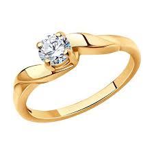<b>Позолоченное кольцо</b> для помолвки <b>SOKOLOV</b> – купить в ...