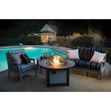 outdoor fire table. Berlin Gardens Prime Outdoor Fire Pit Set - 3 Pc Table P