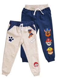 Character Pants 2 Pack Of Toddler Boys Paw Patrol Character Fleece Pants