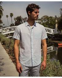 Dress Shirt Wiki Lyst Outerknown Wiki S S Essential Shirt Final Sale In Blue For Men